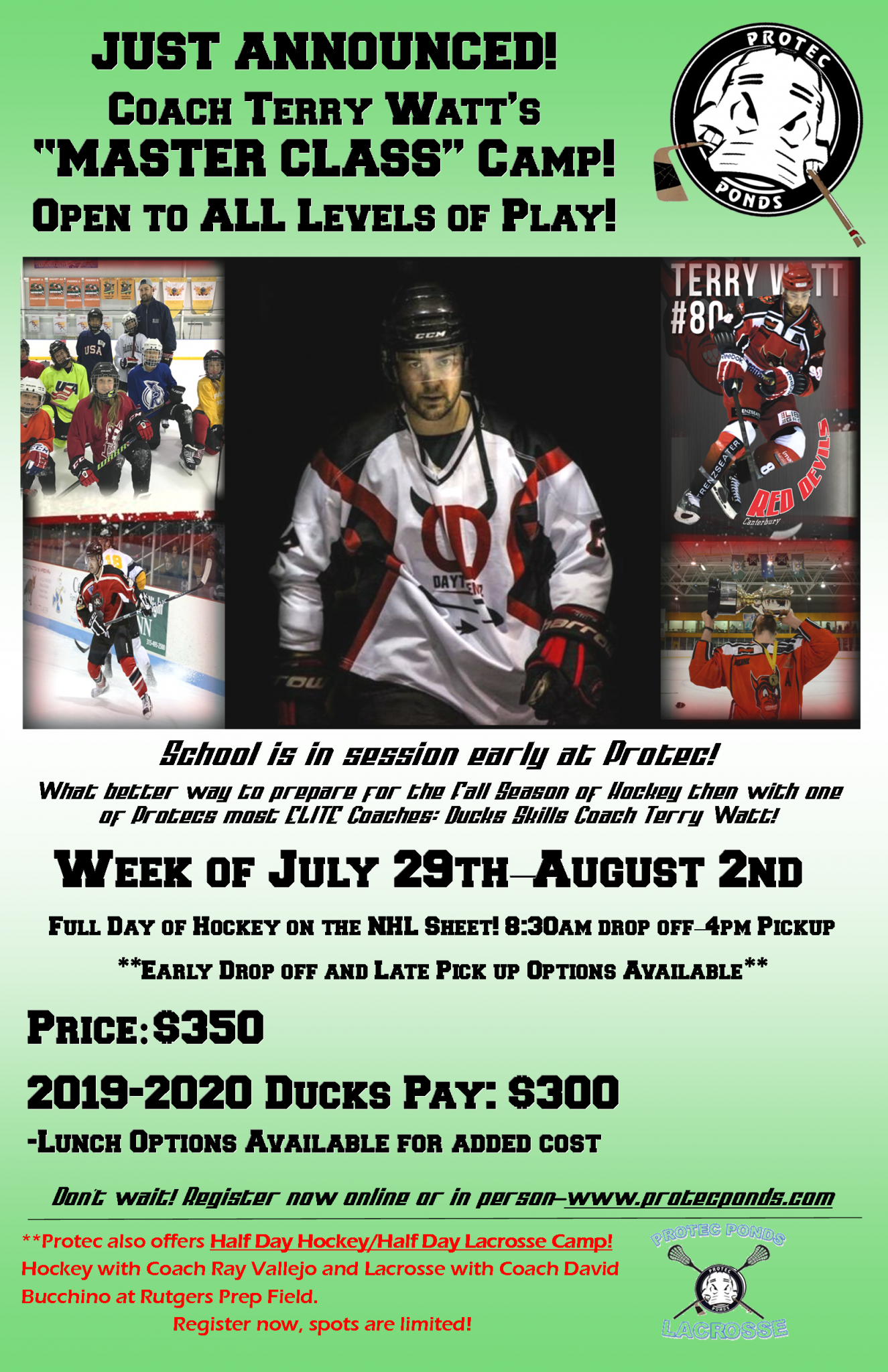 2019 Protec Summer Hockey Camps Protec Ponds Ice Skating Center