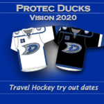 Ducks tryout & pre-tryout dates